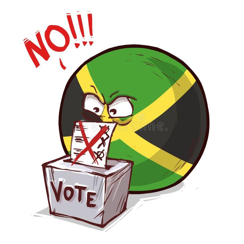 牙买加投反对票国家的球 向量例证