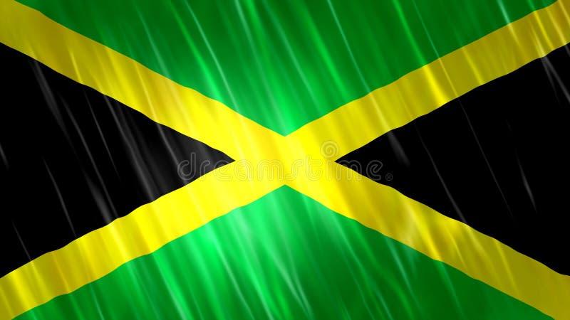牙买加旗子 向量例证