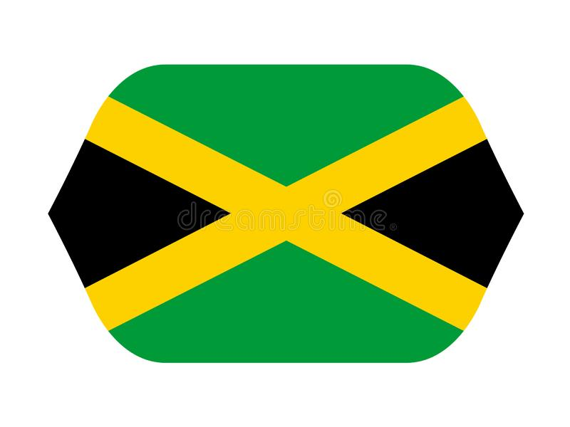 牙买加旗子-在加勒比海位于的岛屿国家 向量例证