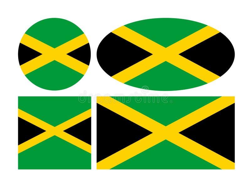 牙买加旗子-在加勒比海位于的岛屿国家 皇族释放例证