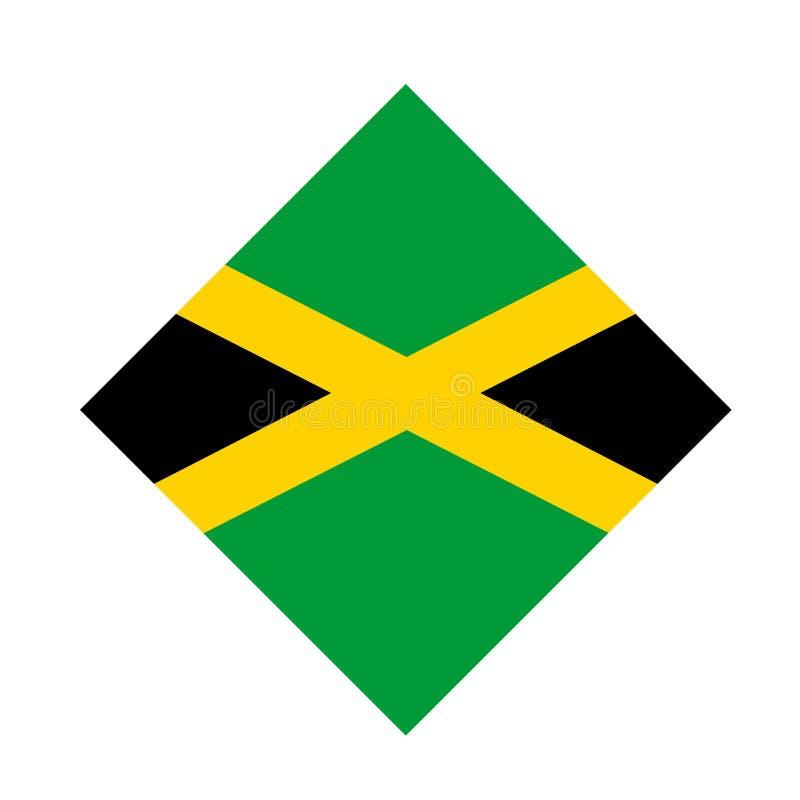 牙买加旗子-在加勒比海位于的岛屿国家 库存例证