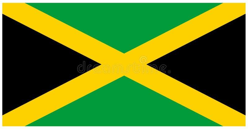 牙买加旗子-横幅,中美洲,国家 库存例证