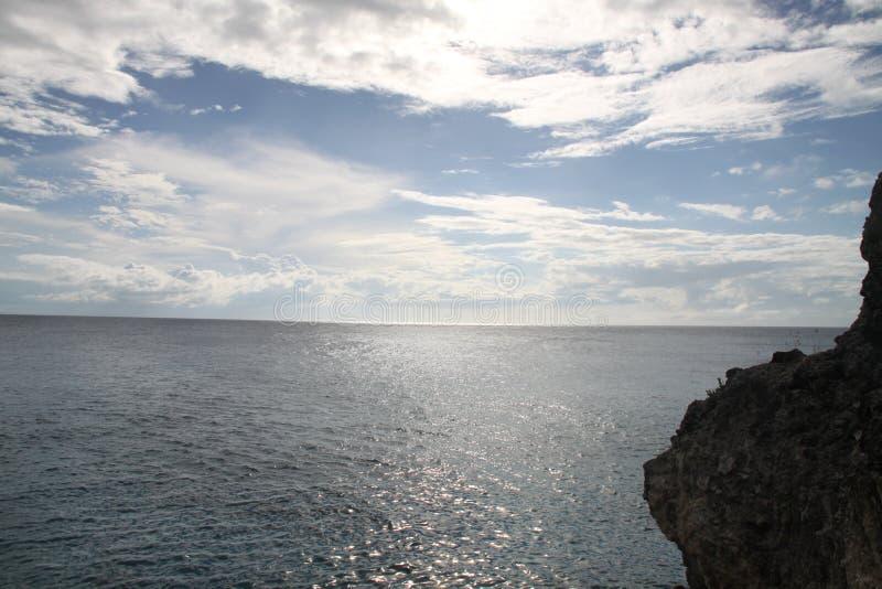 牙买加日落光  库存图片