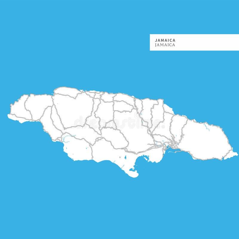 牙买加海岛地图  皇族释放例证