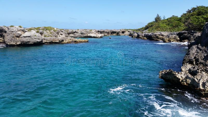 牙买加海洋 免版税库存照片