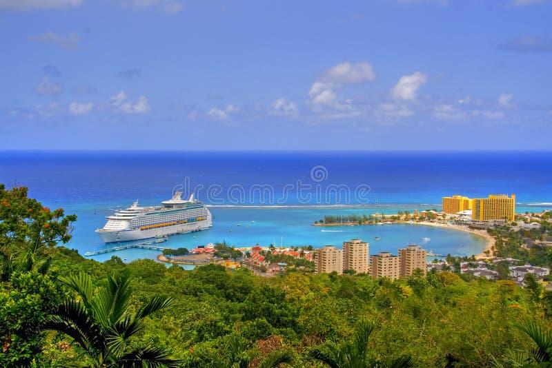 牙买加视图 免版税图库摄影
