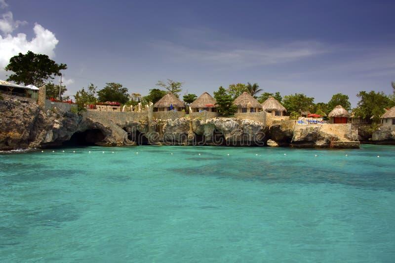 牙买加negril 库存图片