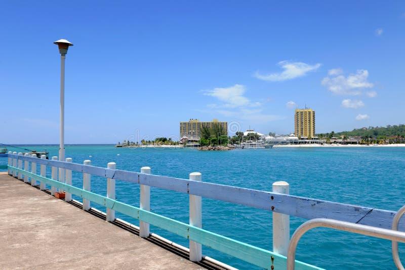 牙买加ocho端口rios 库存照片