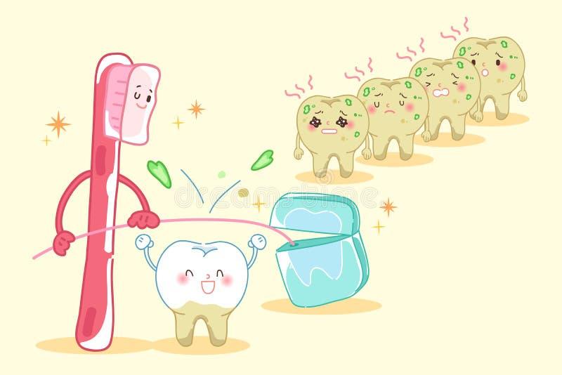 牙健康概念 皇族释放例证