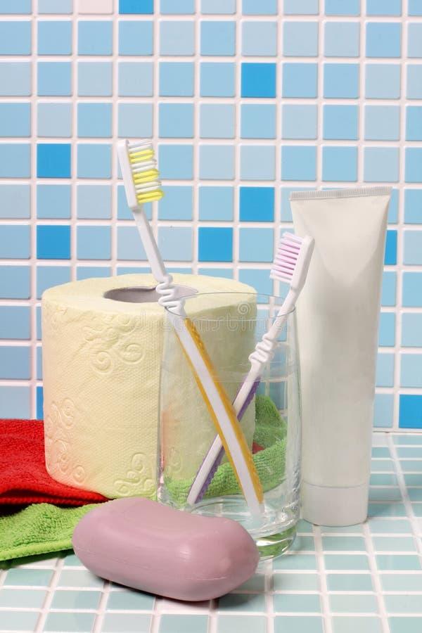 牙刷和肥皂 库存图片