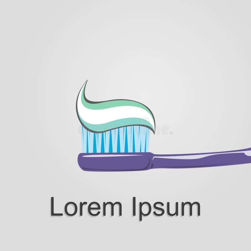 牙刷商标 免版税库存图片