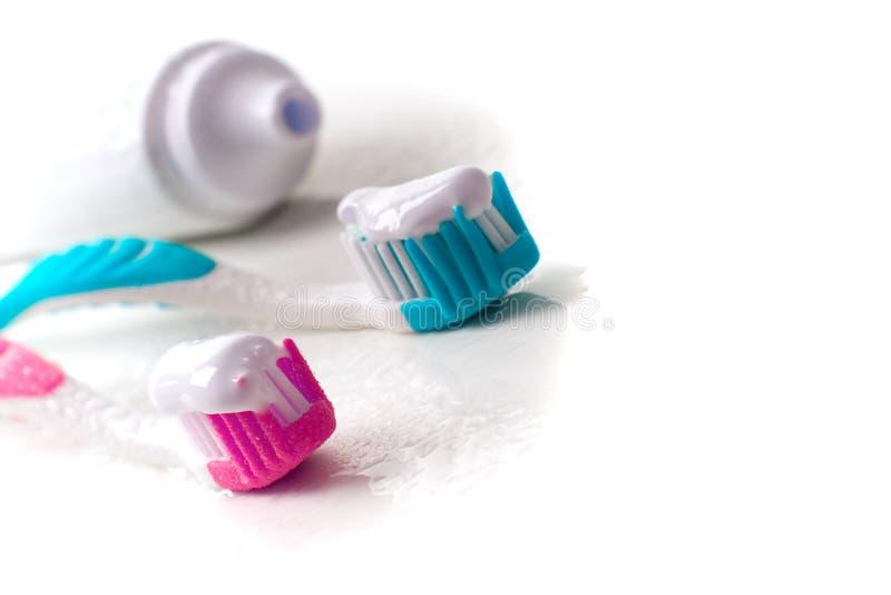 牙刷牙膏 图库摄影