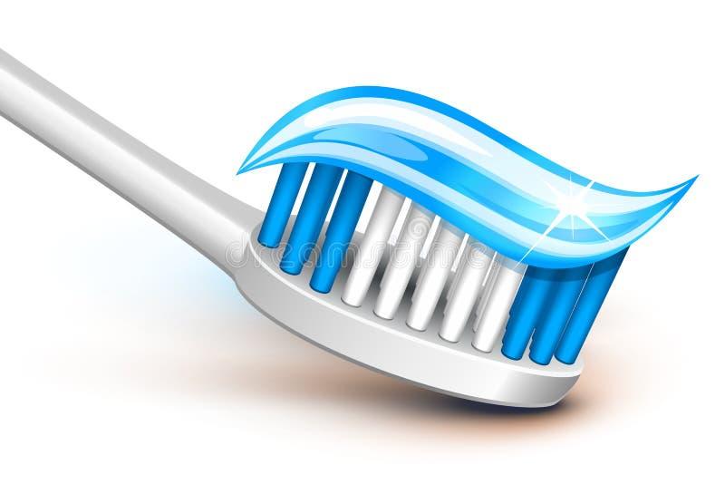 牙刷 向量例证