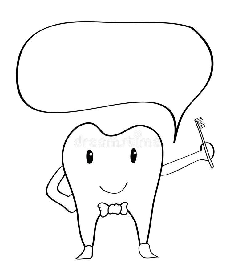 牙动画片现有量图画 皇族释放例证