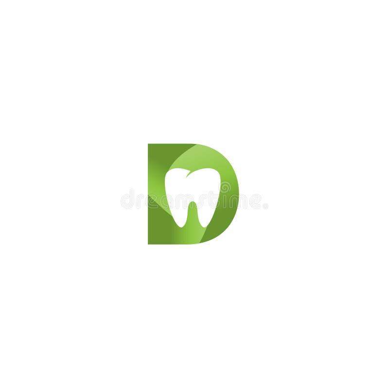 牙医象商标传染媒介模板 库存例证