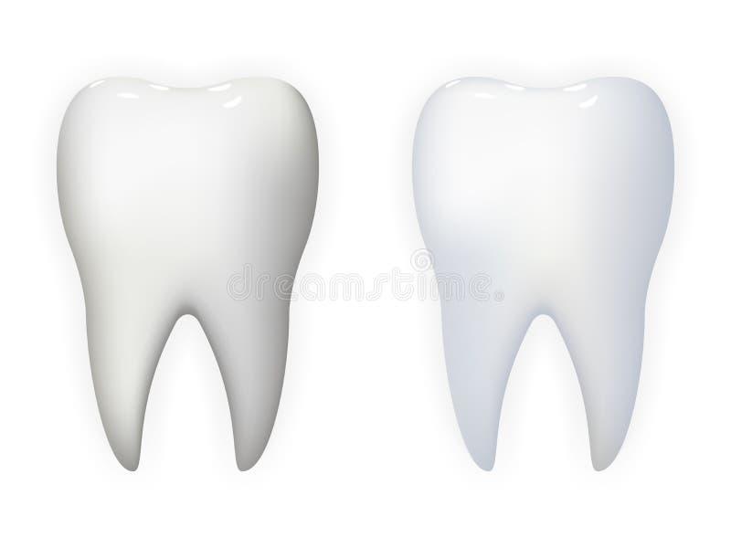 牙海报口腔医学现实3d象模板背景嘲笑设计传染媒介例证 皇族释放例证