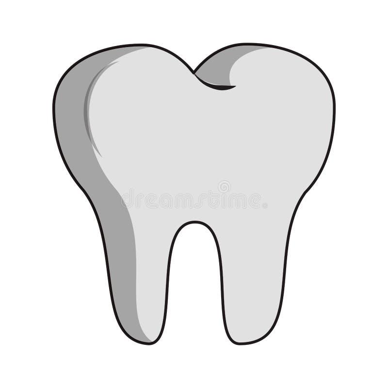 牙牙齿保护标志 库存例证
