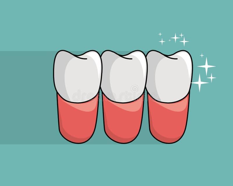 牙牙齿保护 向量例证