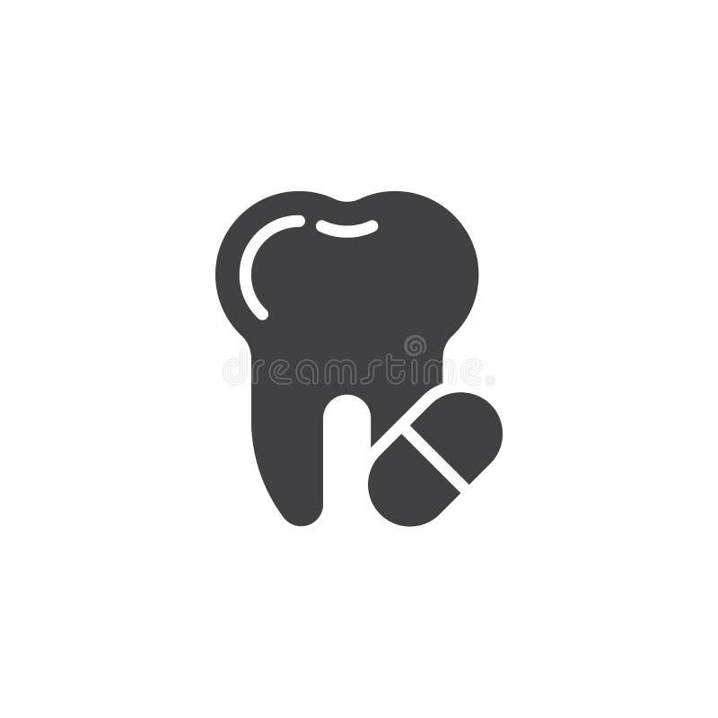 牙痛止痛药片剂传染媒介象 库存例证