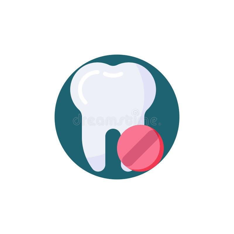 牙痛止痛药片剂平的象 皇族释放例证