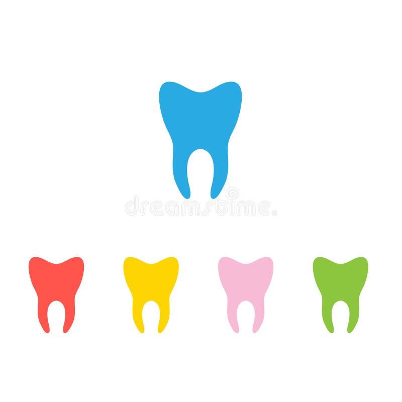 牙的传染媒介剪影 库存例证