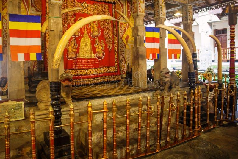 牙的寺庙在康提,斯里兰卡 图库摄影