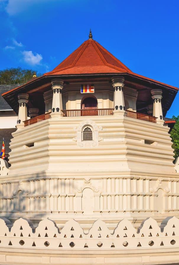 牙的寺庙,康提,斯里兰卡 库存图片