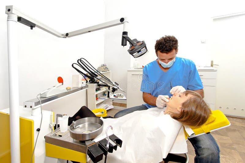 牙科医生工作场所 库存照片