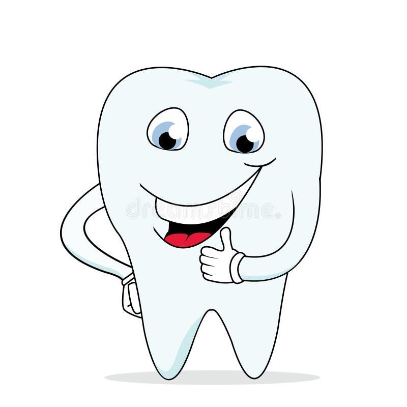 牙科医生愉快的健康微笑的牙 向量例证