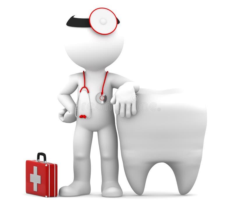 牙科医生查出的牙 向量例证