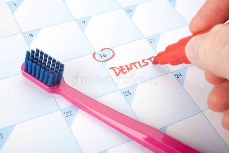 牙科医生访问提示 免版税库存照片