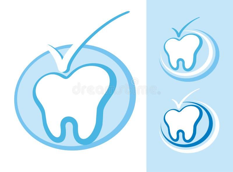 牙科图标 库存例证