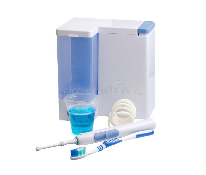 牙科设备关心 嘴的Irrigator 库存图片