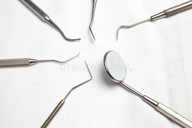 牙科医生工具 免版税库存图片
