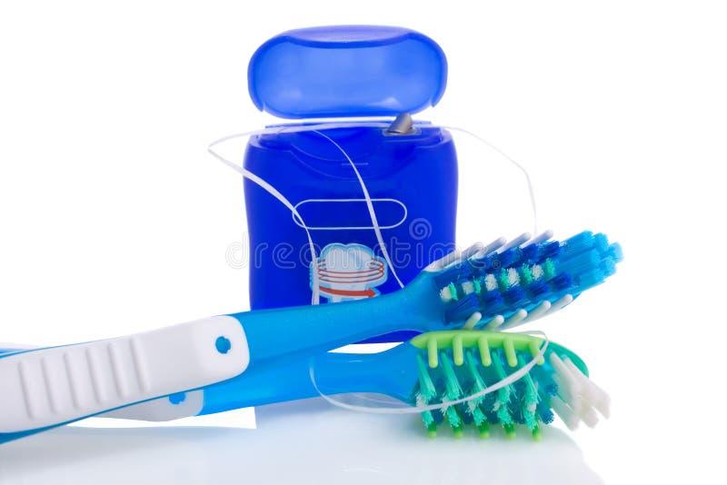 牙线牙刷二 免版税库存照片