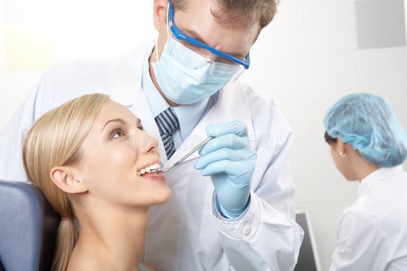 牙考试 库存照片