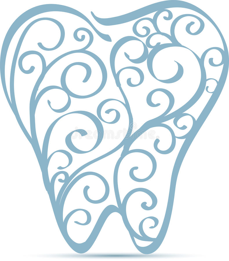 牙装饰设计 库存例证