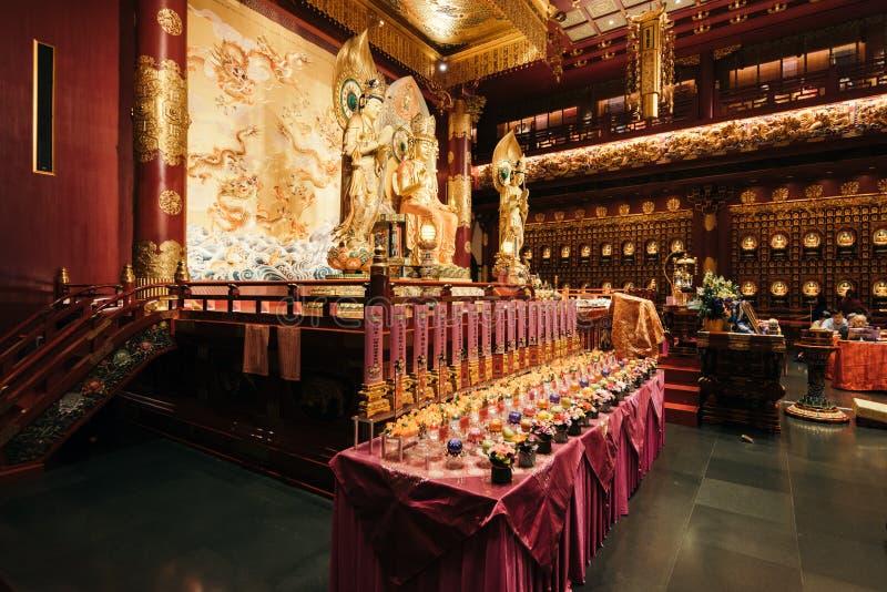 牙遗物寺庙,新加坡 库存图片