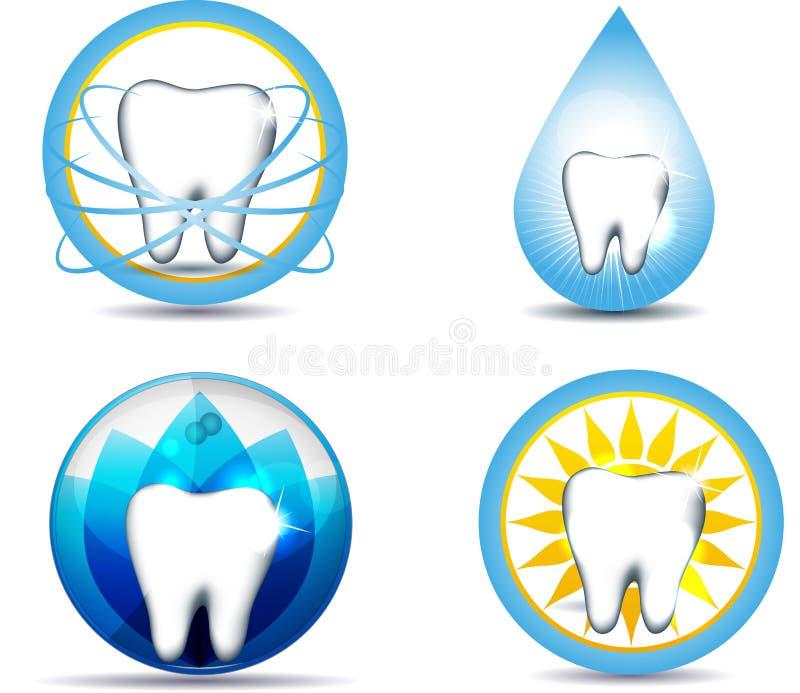 牙齿保护和自然 库存例证