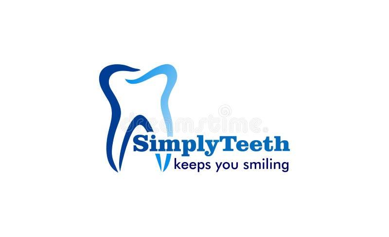 牙齿健康商标设计 库存例证