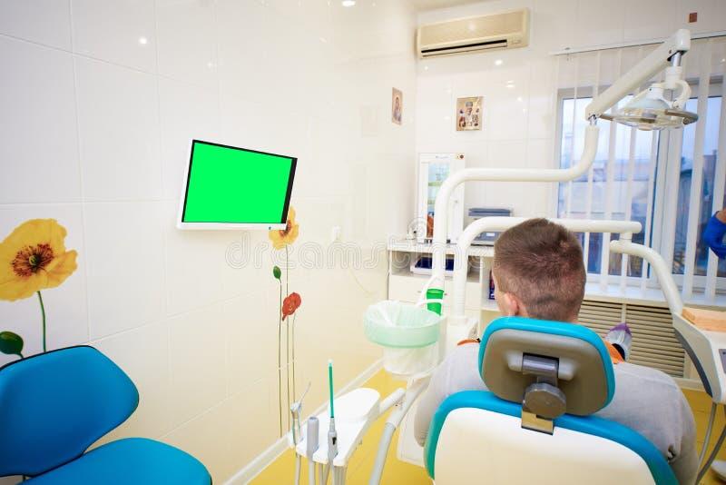 牙齿办公室,牙科,牙齿保护,身体检查 免版税库存照片