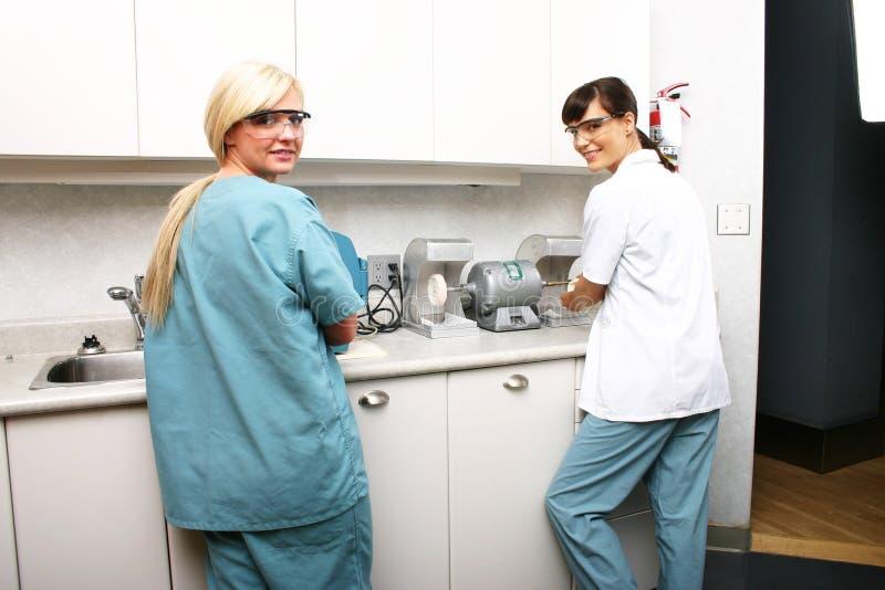 牙齿化验员 免版税库存照片