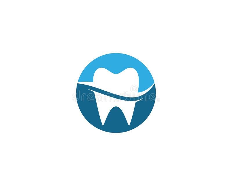 牙齿商标模板 向量例证