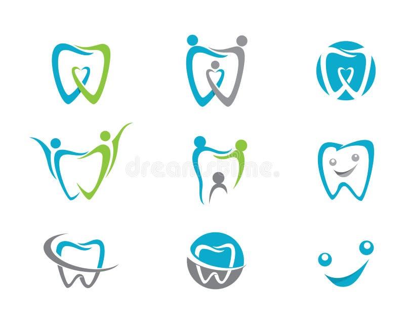 牙齿商标模板 库存例证
