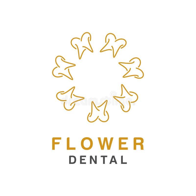 牙齿商标设计、象或者标志 医疗品牌的简单的最低纲领派样式 皇族释放例证