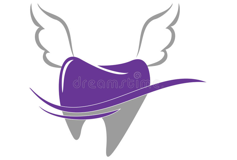 牙齿商标 向量例证