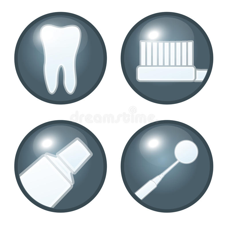 牙齿图标 向量例证