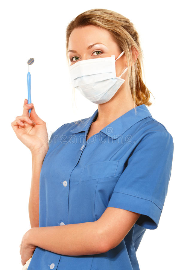 牙齿护士 库存照片