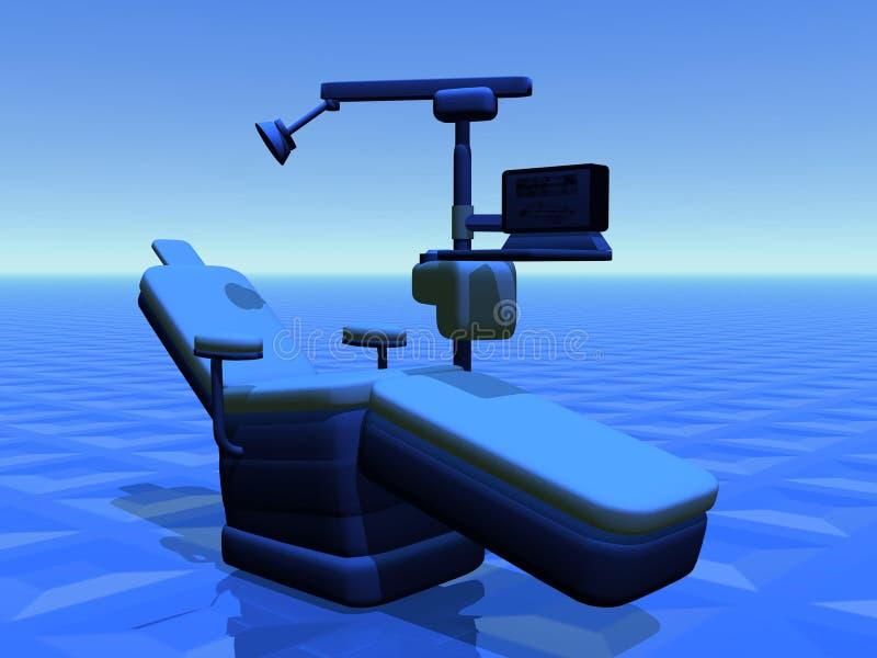 牙齿的椅子 向量例证