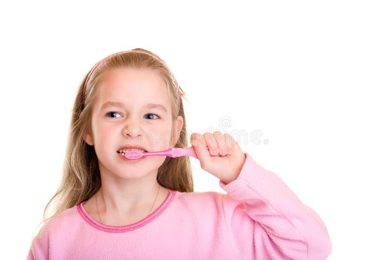 牙齿的画笔 免版税库存照片